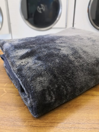 Clean dark grey mink blanket