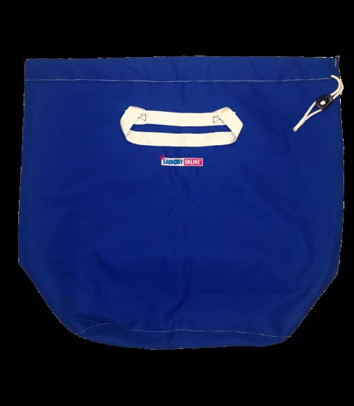 Empty flat Laundry Online bag showing size