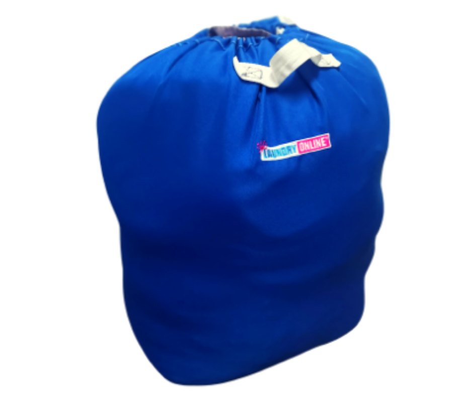 Full Laundry Online bag. Background removed. Transparent background.