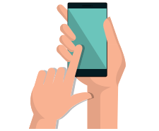Animated image of mobile phone